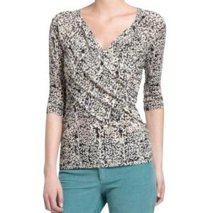 Anthro - Meadow Rue Blouse w/ Ruched Detail